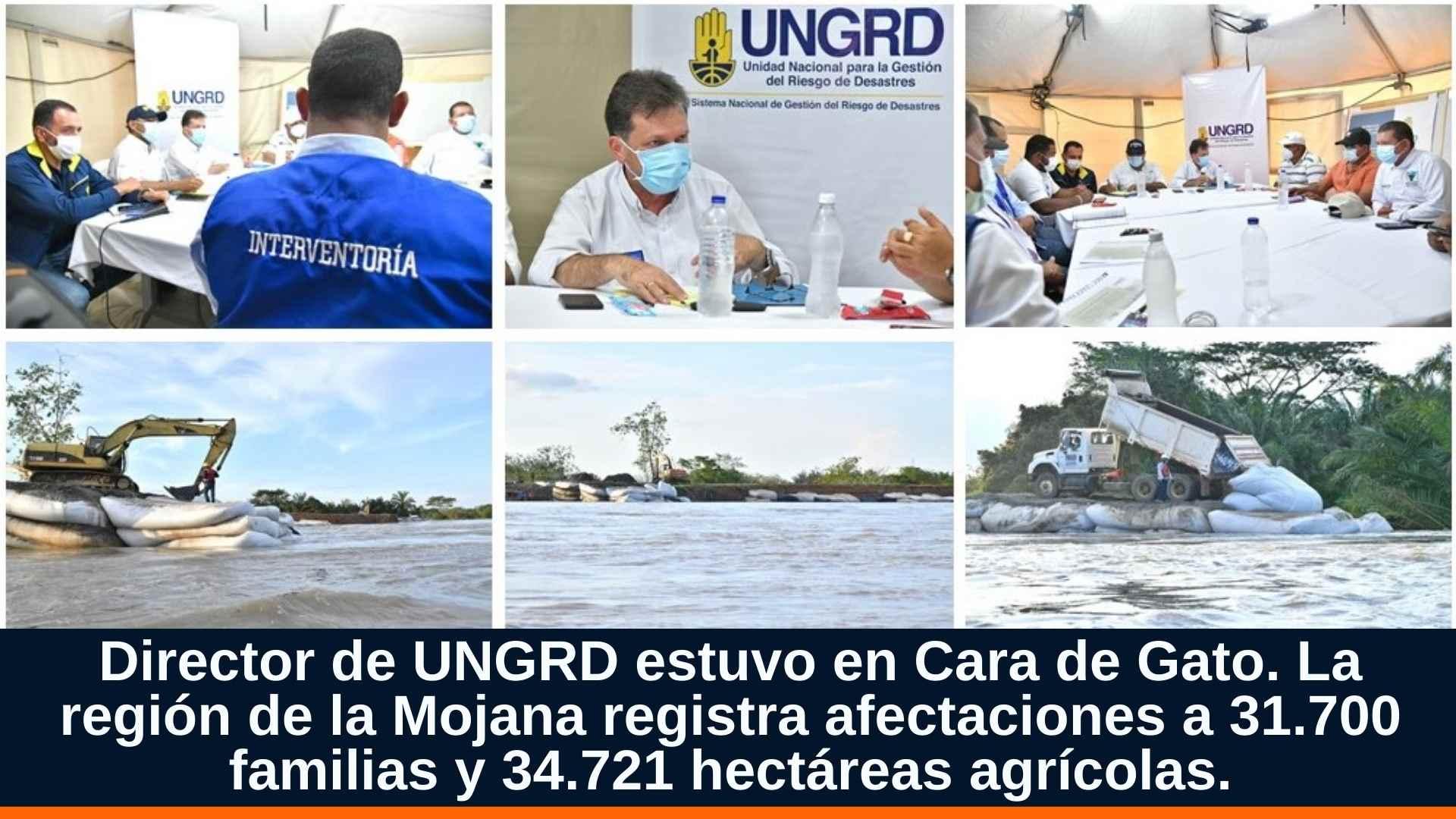 La región de la Mojana registra afectaciones a 31.700 familias y 34.721 hectáreas agrícolas.