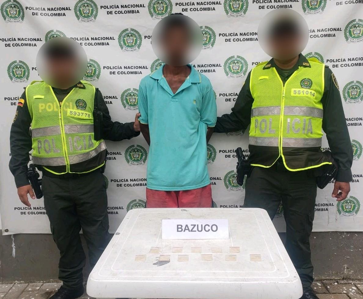 En Montelíbano sujeto fue  sorprendido con  11 dosis de bazuco