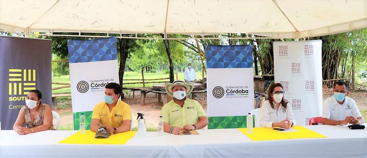 Cerro Matoso y la Gobernación de Córdoba trabajan de la mano en pro de la seguridad alimentaria de las comunidades