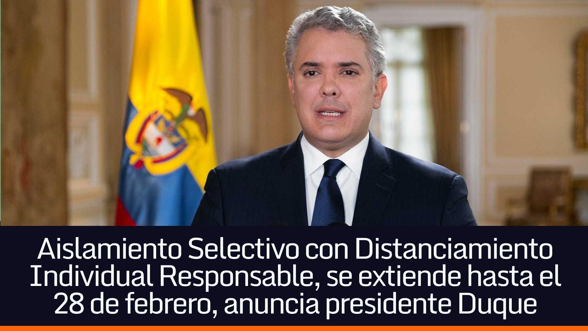 El anuncio fue hecho el 13 de enero por el mandatario colombiano