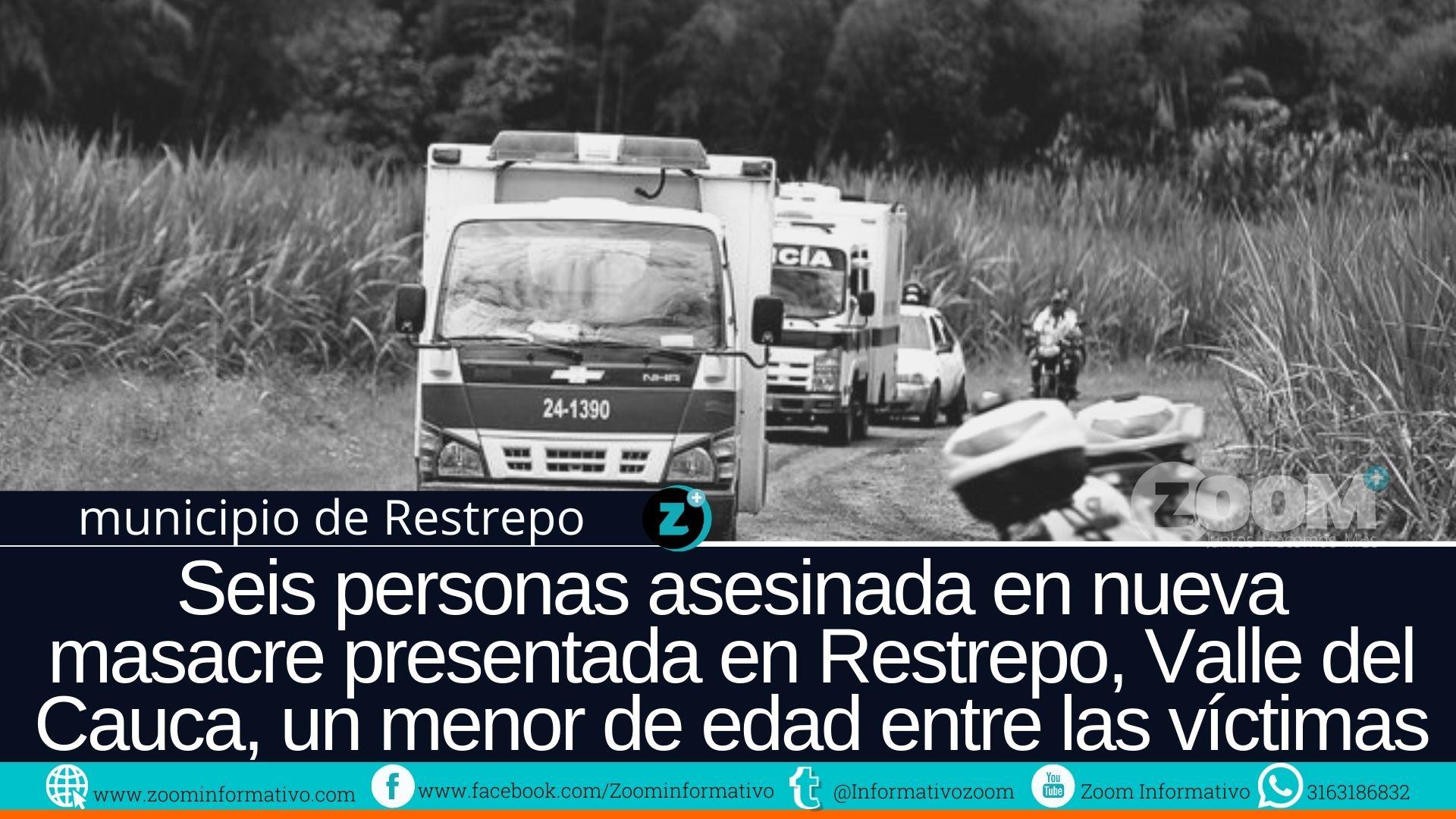 Hombre fuertemente armados masacraron 5 personas en Restrepo, Valle del Cauca