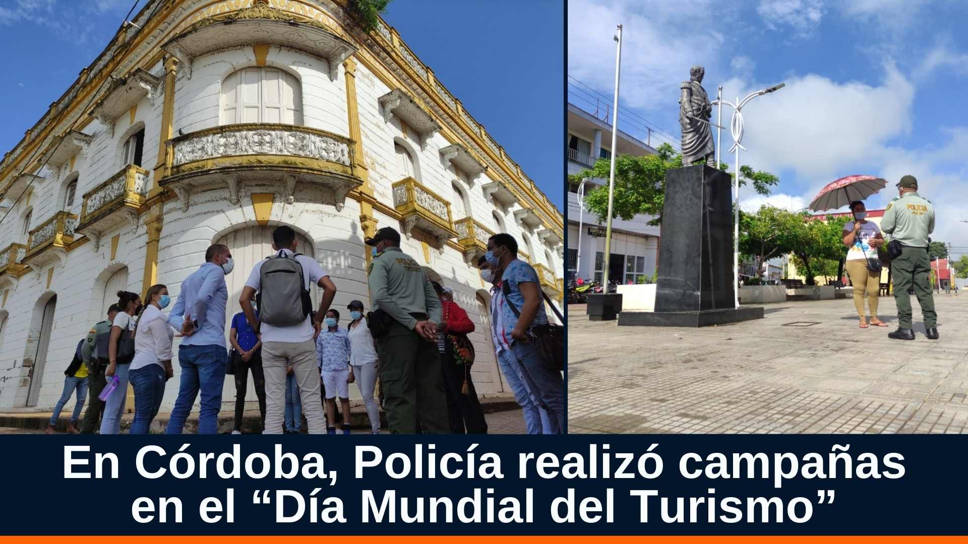 """En Córdoba, Policía realizó campañas en el """"Día Mundial del Turismo"""""""