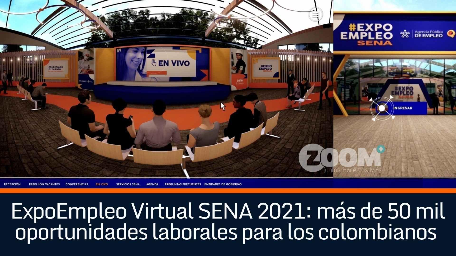 ExpoEmpleo Virtual SENA 2021: más de 50 mil oportunidades laborales para los colombianos