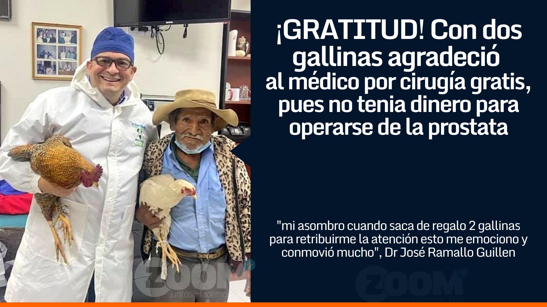 La gratitud del abuelo con su médico luego que este le regala un procedimiento quirúrgico
