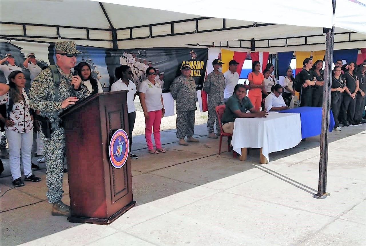 Más de setecientas personas beneficiadas por la Armada de Colombia en jornada de Salud y Bienestar