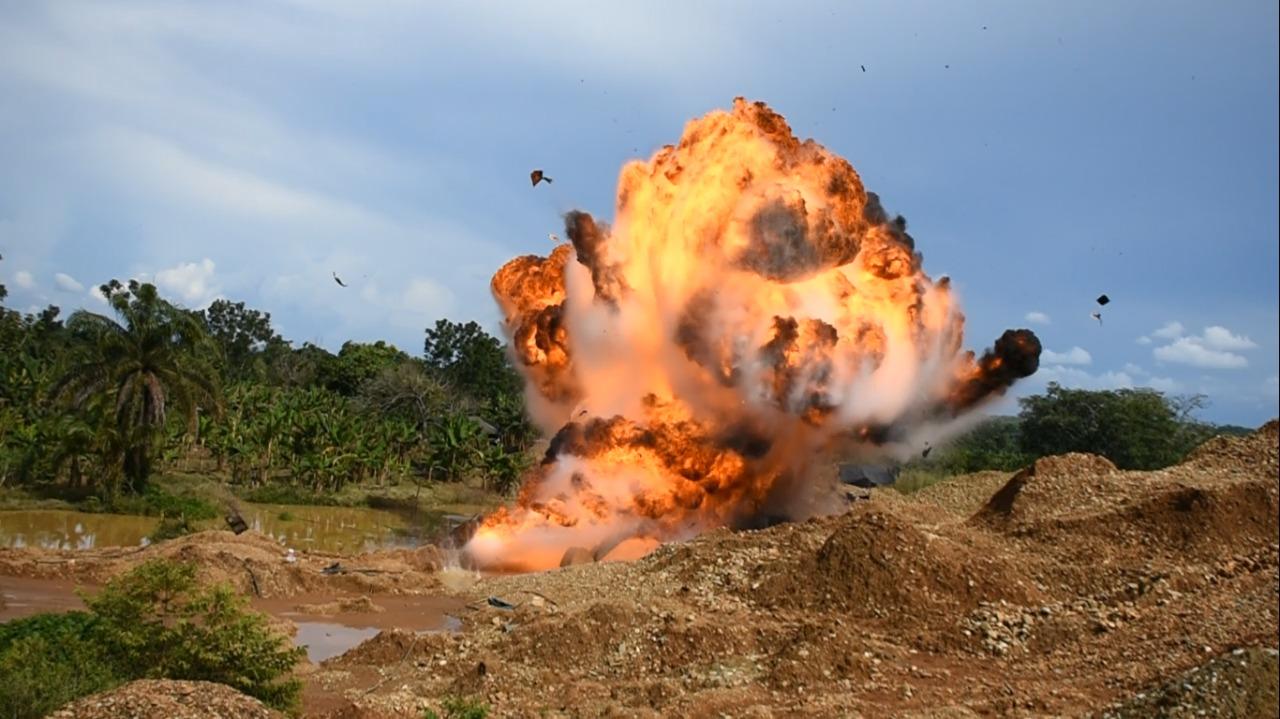 Ejército destruyó complejo para la explotación ilícita de yacimientos mineros, avaluado en más de 6500 millones de pesos