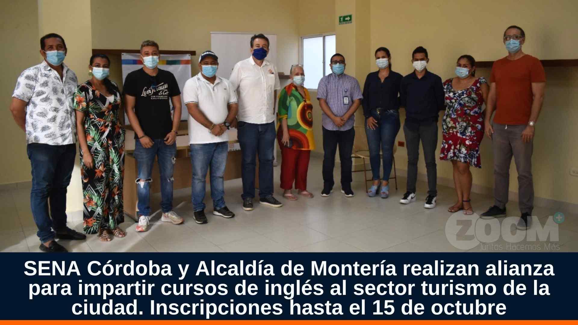 SENA Córdoba y Alcaldía de Montería realizan alianza para impartir cursos de inglés al sector turismo de la ciudad.
