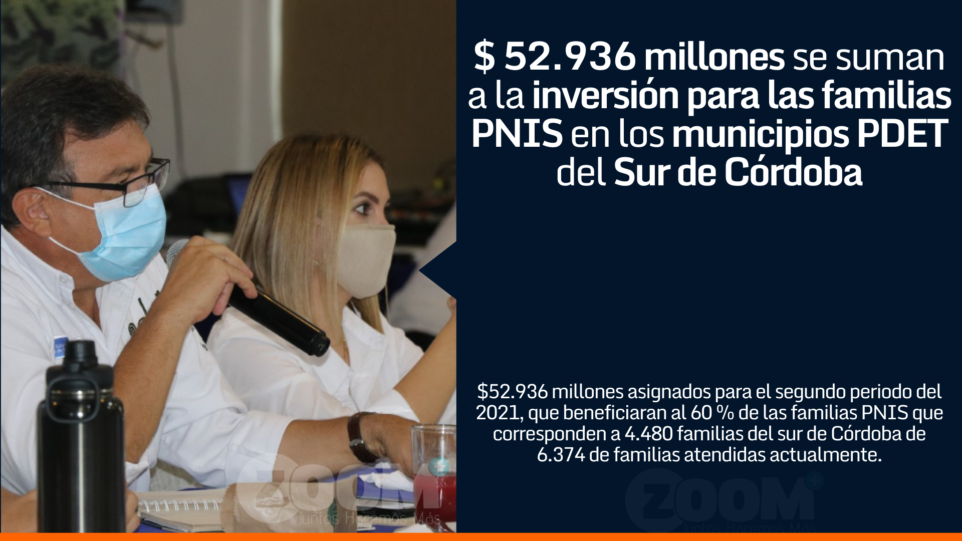 $ 52.936 millones se suman a la inversión para las familias PNIS en los municipios PDET del Sur de Córdoba