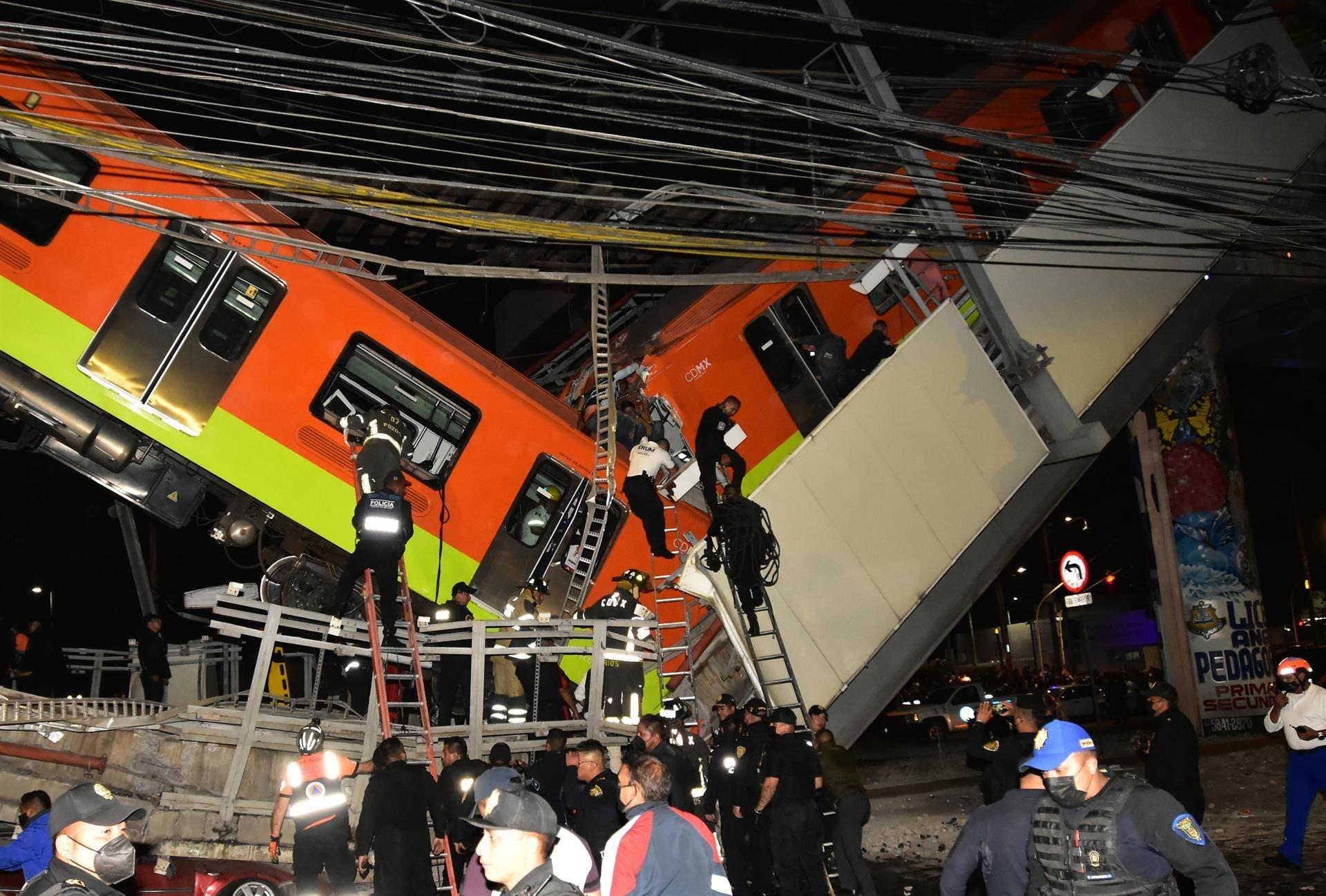 Más de 20 muertos y decenas de heridos deja accidente de Metro de Ciudad de México