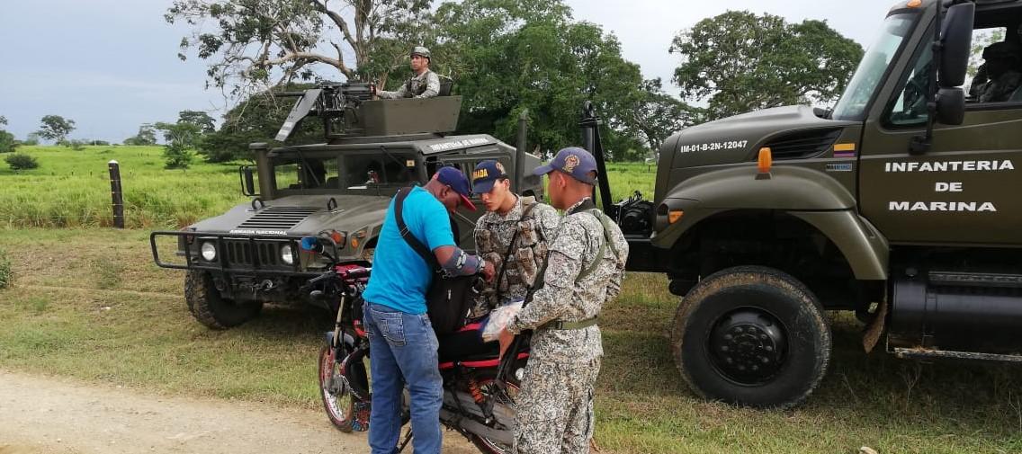 Brigada de Infantería de Marina trabaja por la seguridad en Los Montes de María